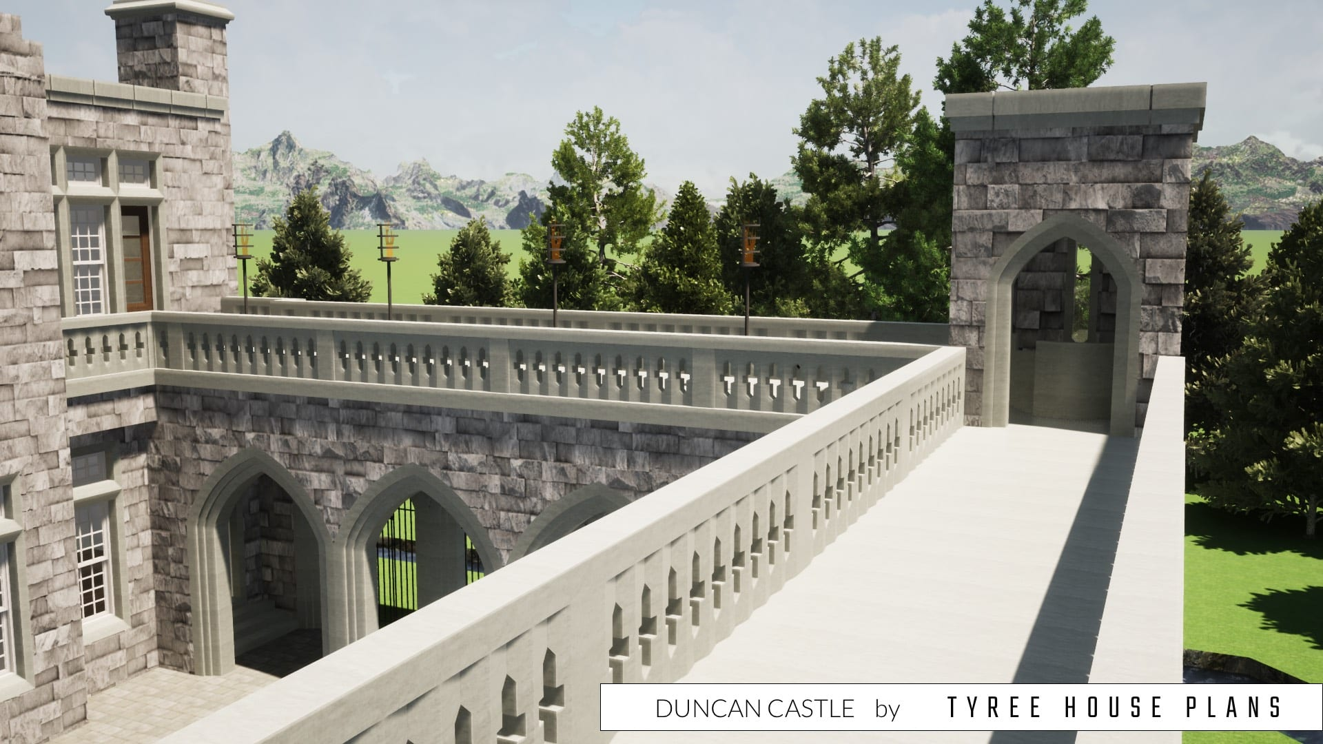 Duncan Castle House Plan by Tyree House Plans