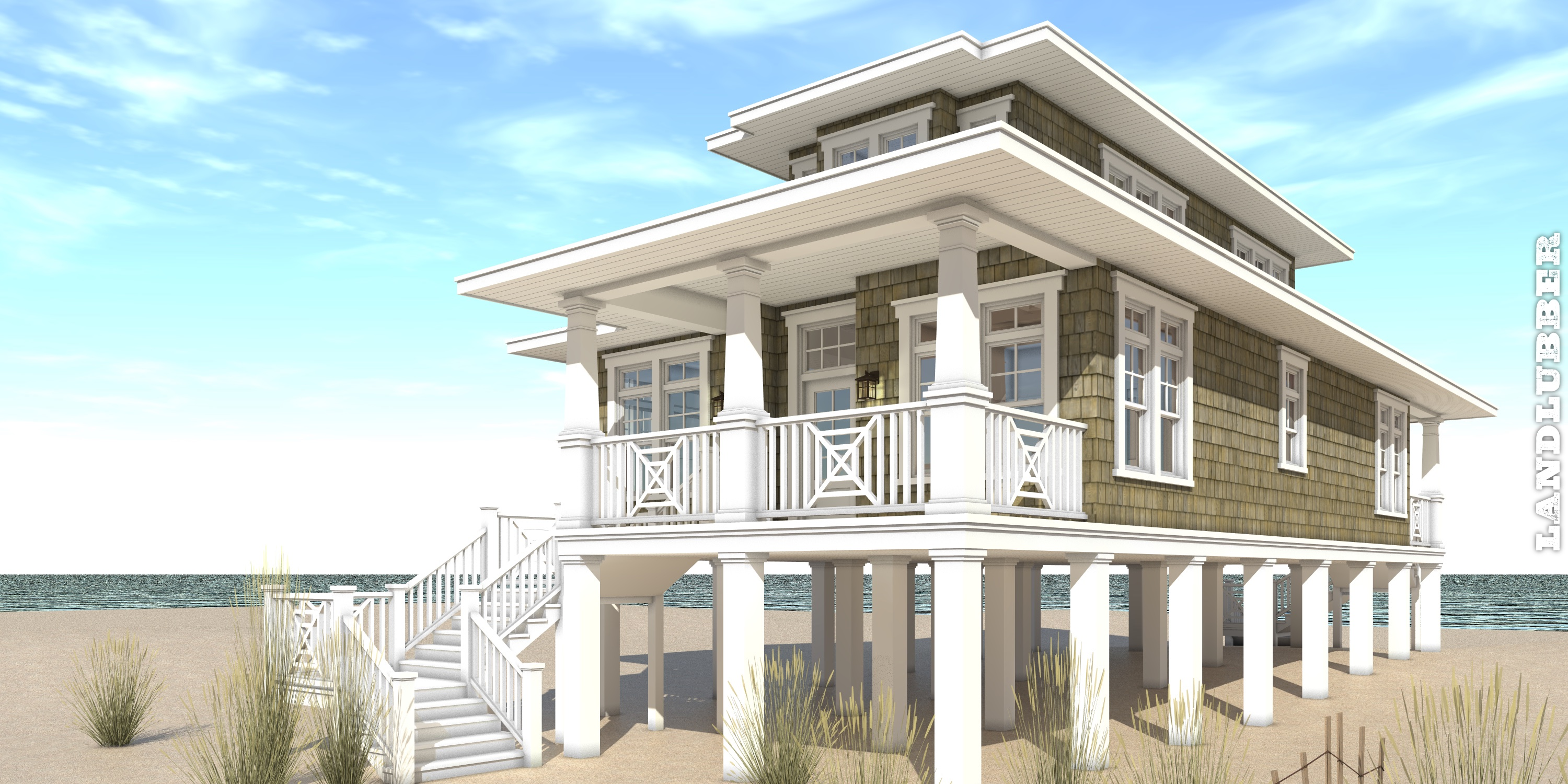 Landlubber house plan tyree house plans for Beach home plans