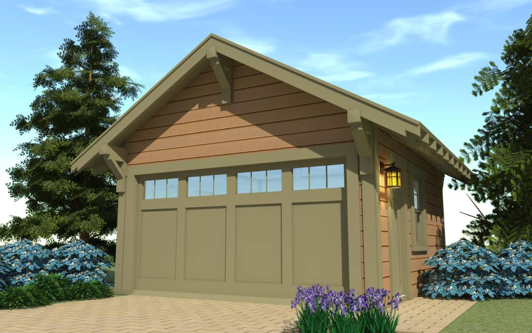 Craftsman garage 1 by tyree house plans for Arts and crafts garage plans
