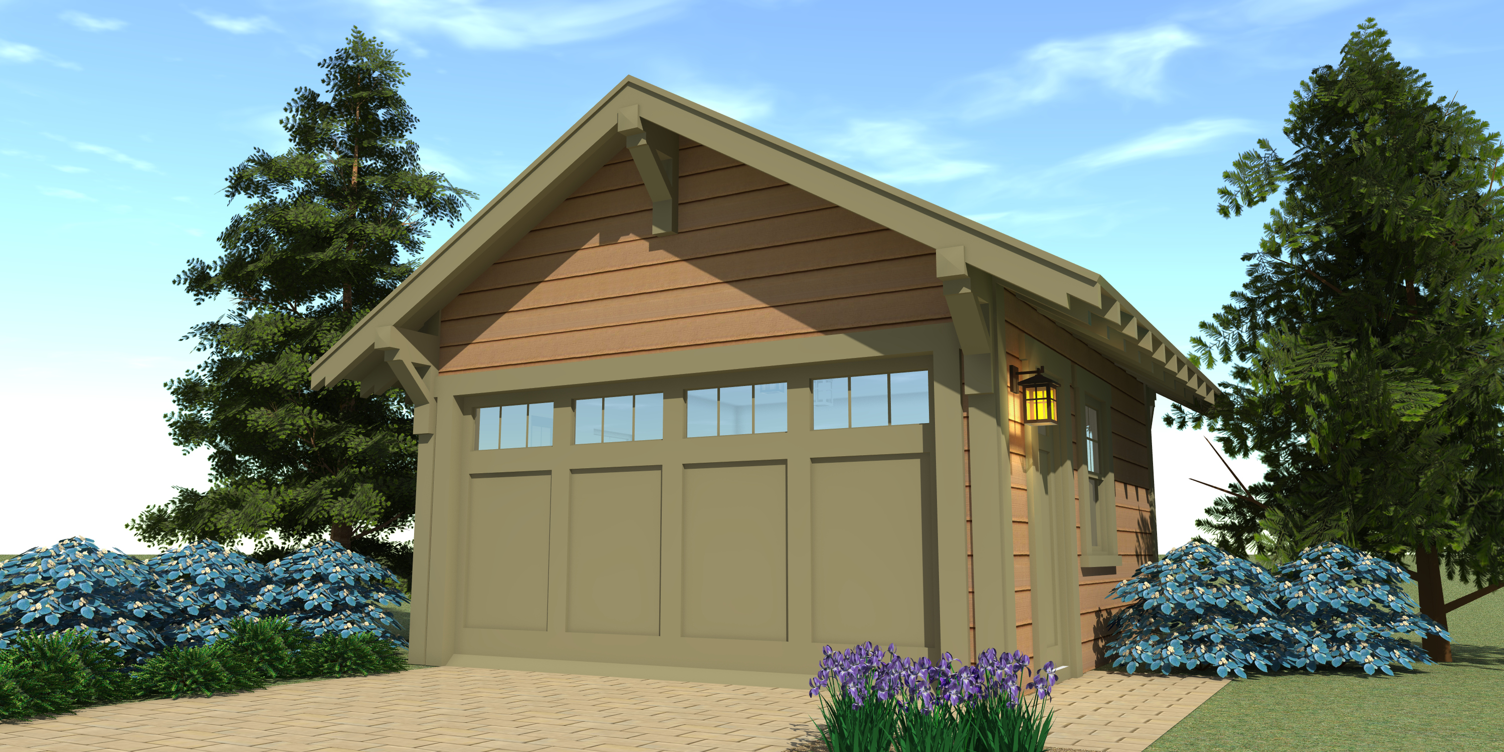 Craftsman garage 1 plan tyree house plans for Arts and crafts garage