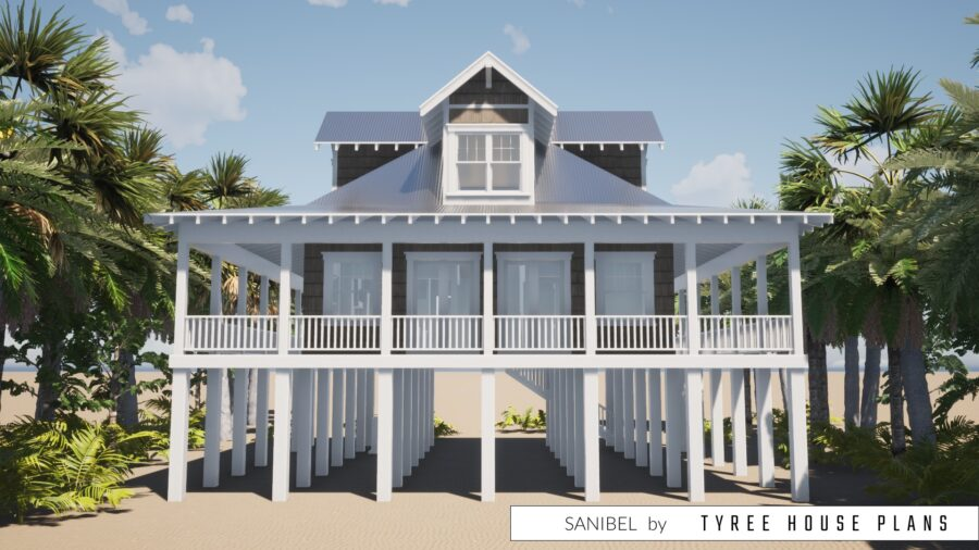Sanibel House Plan by Tyree House Plans