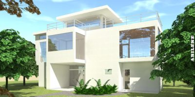 Ultra Modern Home with Rooftop Decks. 3 Bedrooms. Abilene by Tyree House Plans