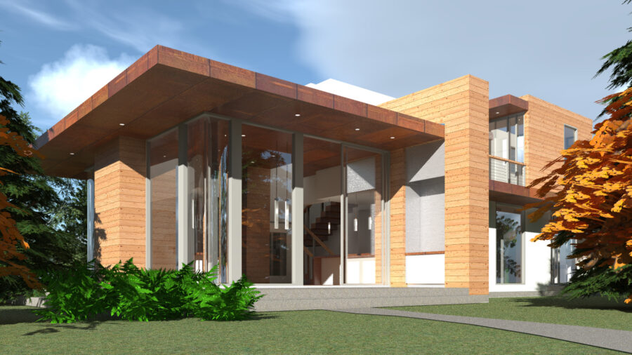 Modern Home with 2 Master Suites. Amicalola by Tyree House Plans.