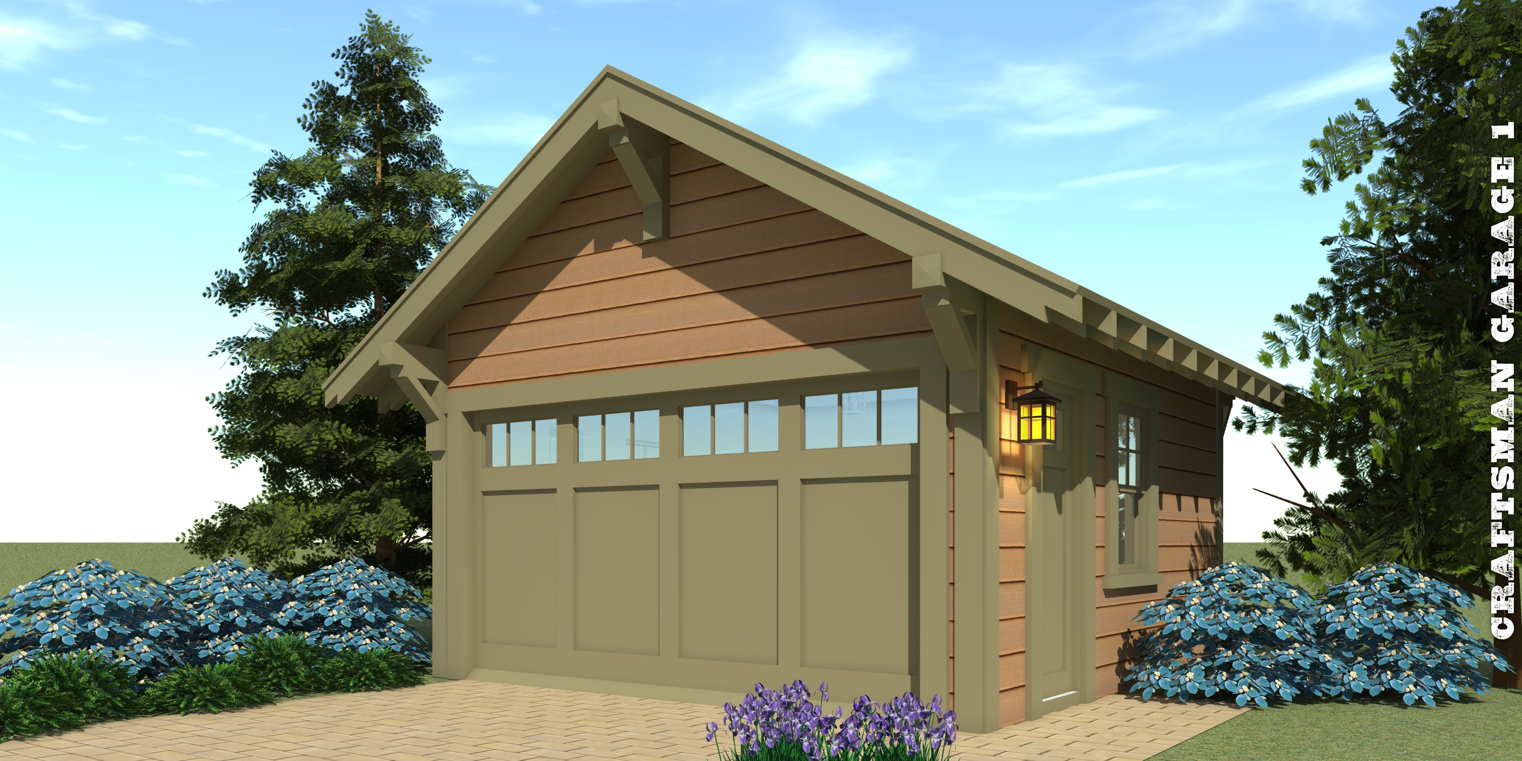 Craftsman garage 1 plan tyree house plans for Average cost to build a craftsman style home
