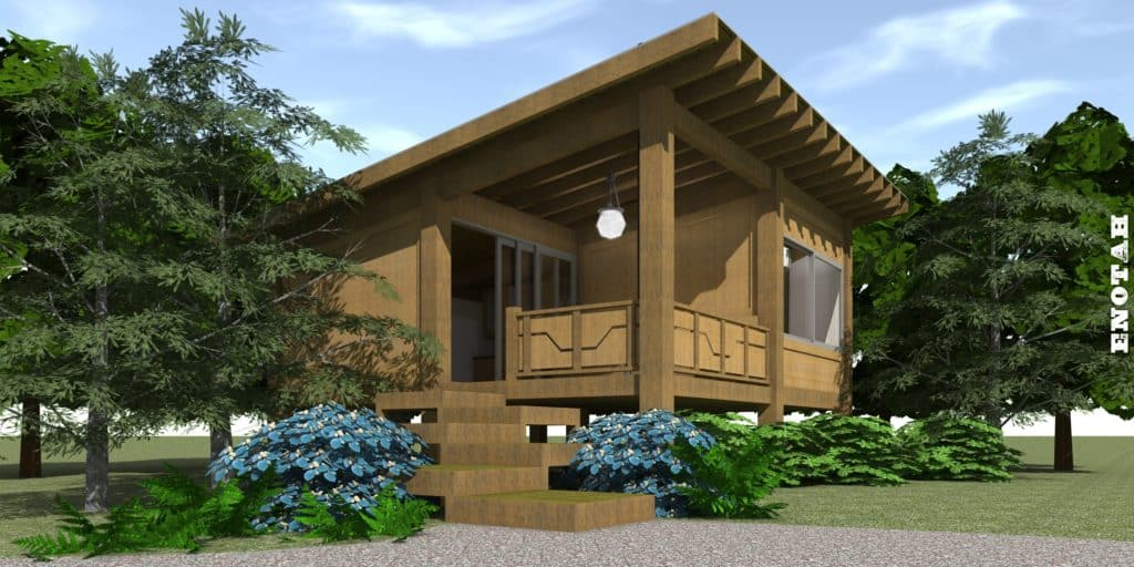 Modern Getaway Cabin Enotah House Plan