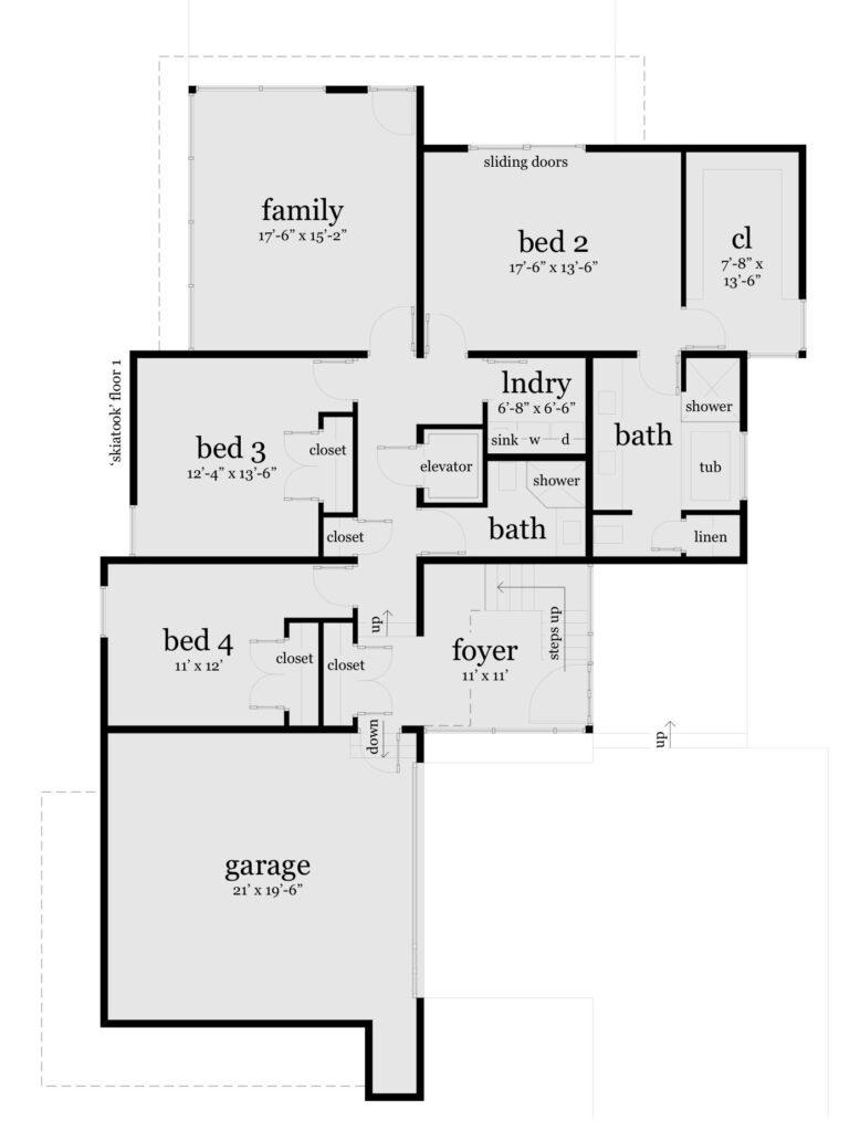 Floor 1 - Skiatook House Plan - Tyree House Plans