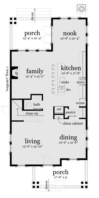 Wagoner House Plan - Floor 1