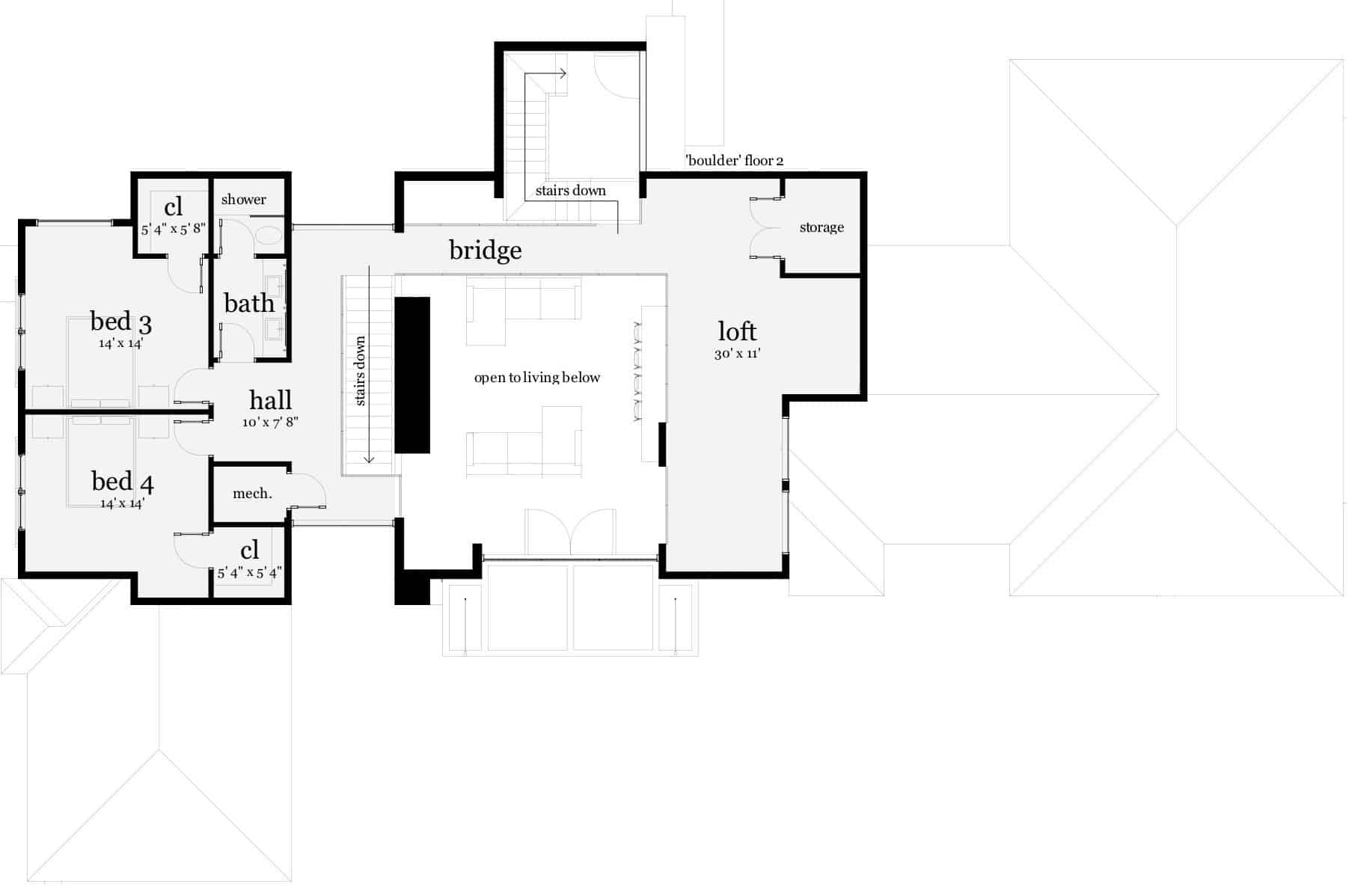 Boulder House Plan by Tyree House Plans