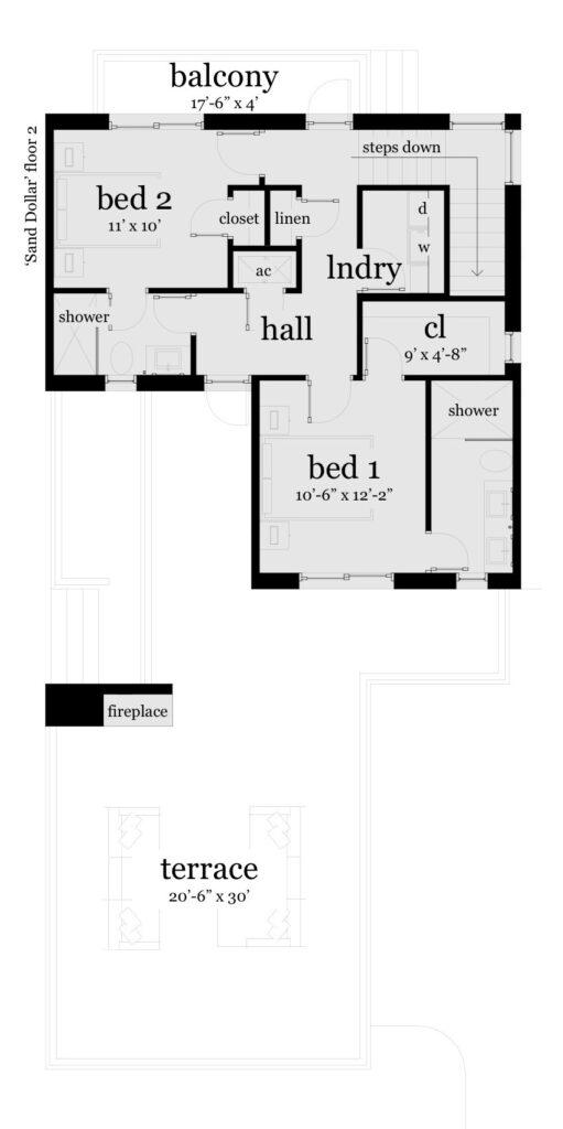 Floor 2 - Sand Dollar House Plan - Tyree House Plans
