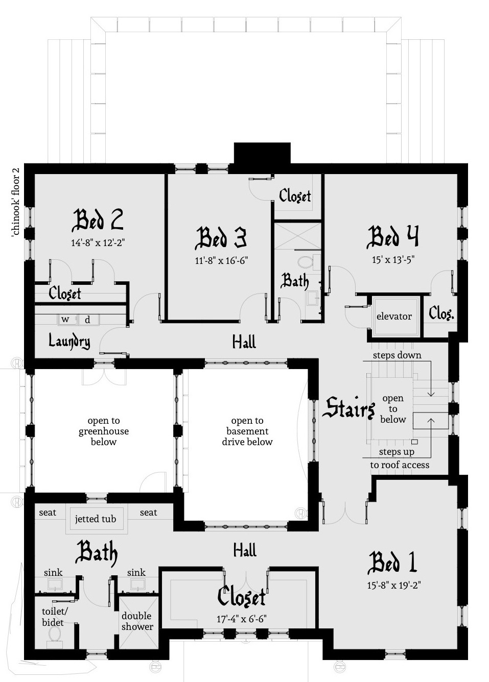 Chinook castle plan tyree house plans for Houde plans