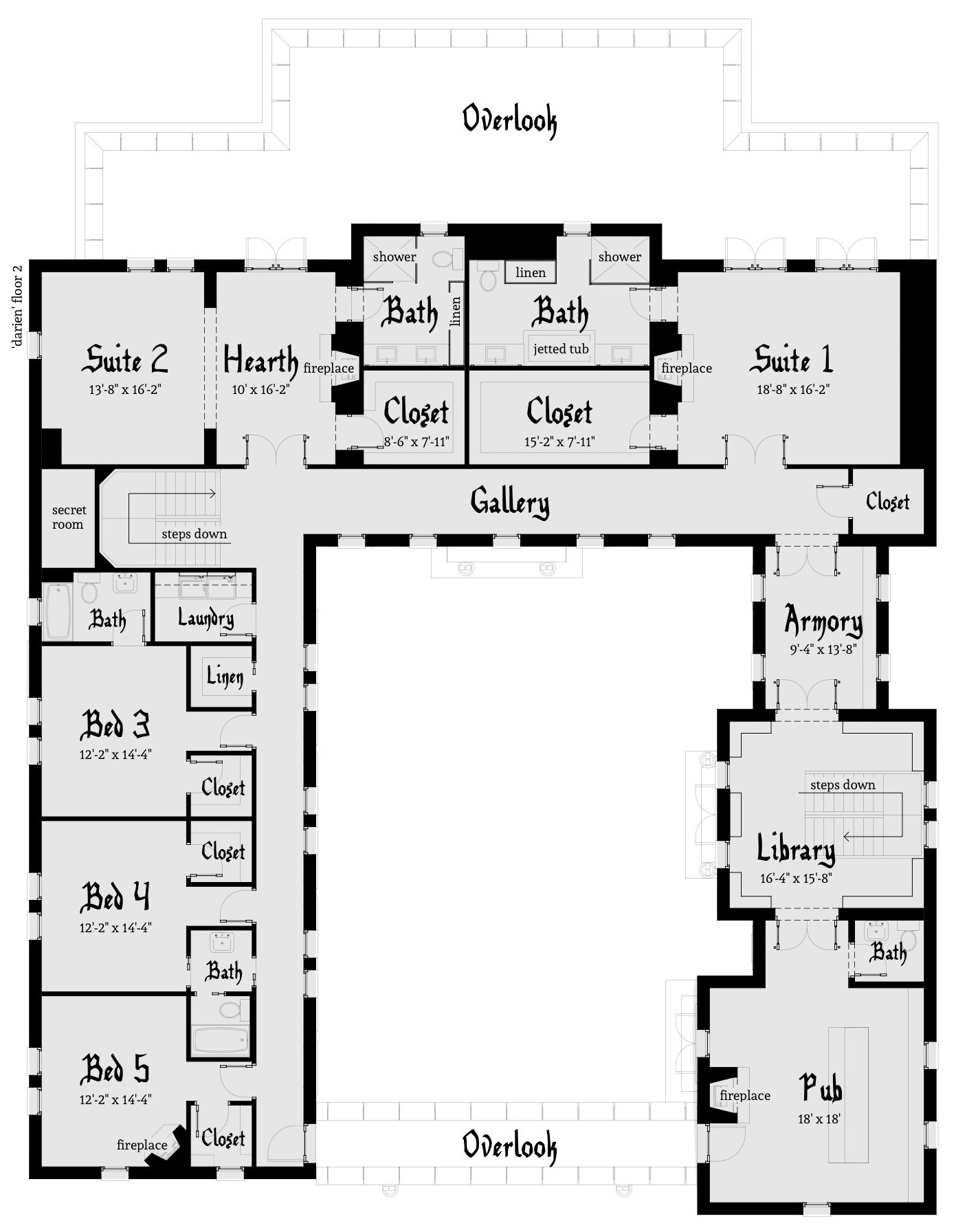 Darien castle plan tyree house plans for House floor plans