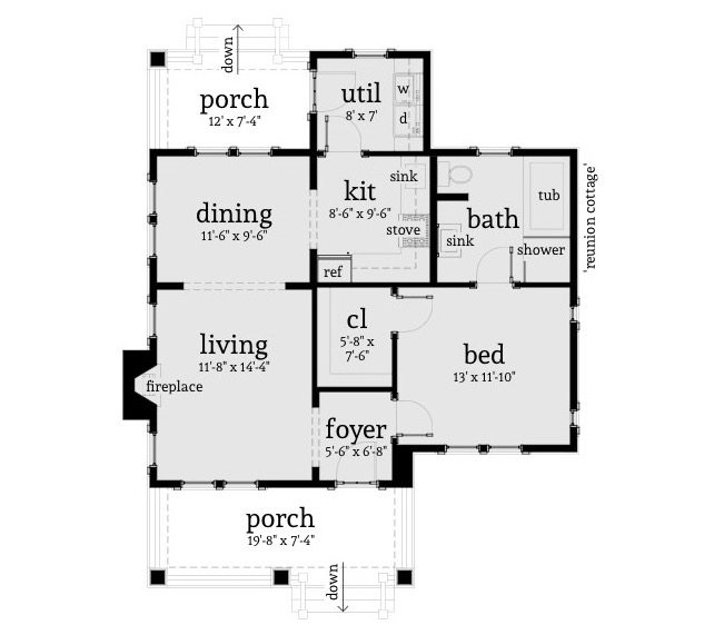 Captivating Description. Reunion Cottage House Plan ...
