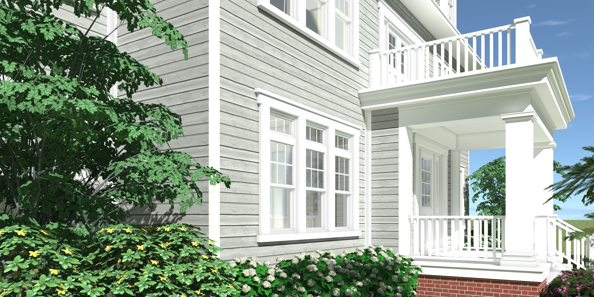 Front Left - Katelen Irene House Plan by Tyree House Plans