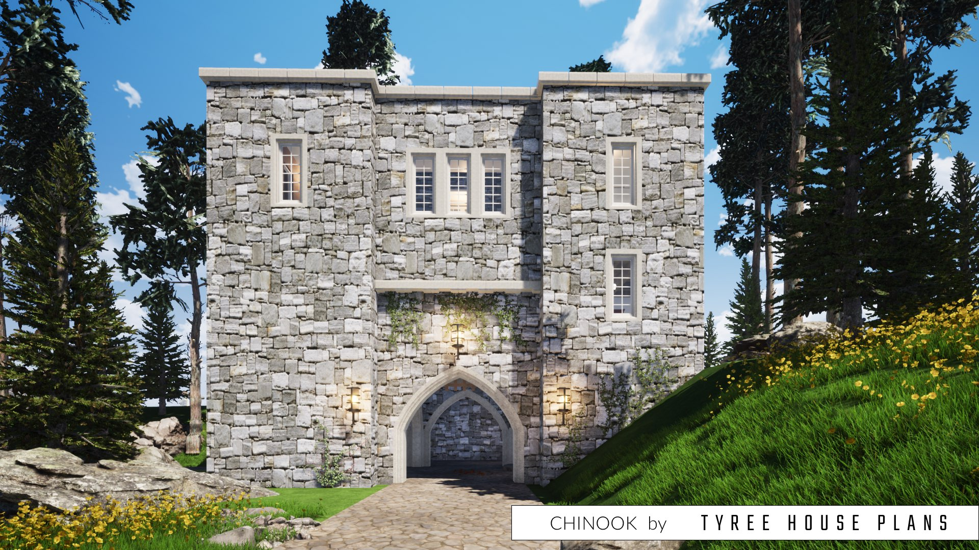 Chinook Castle House Plan by Tyree House Plans
