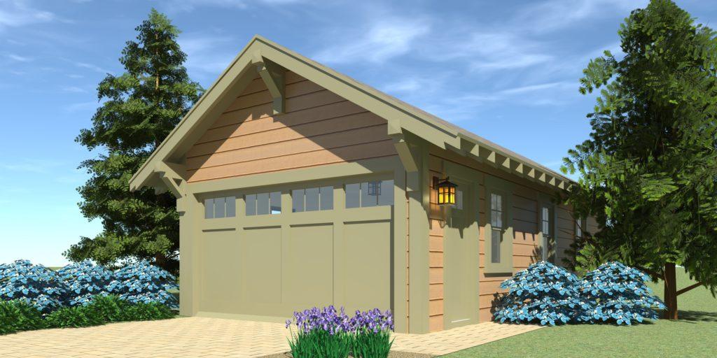Craftsman Garage Plan 2 - Tyree House Plans