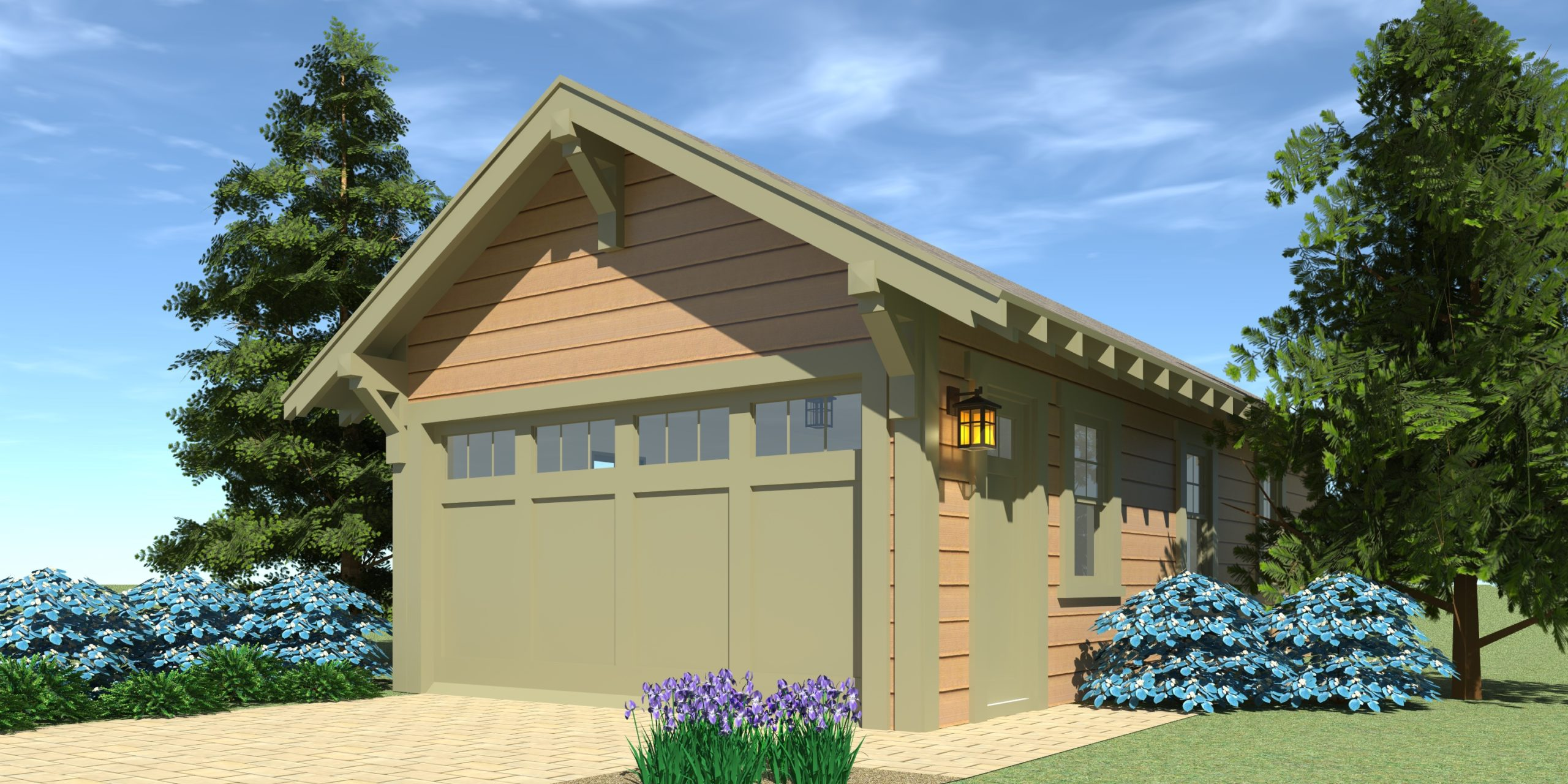 Craftsman Garage Plan 2 - Tyree House Plans
