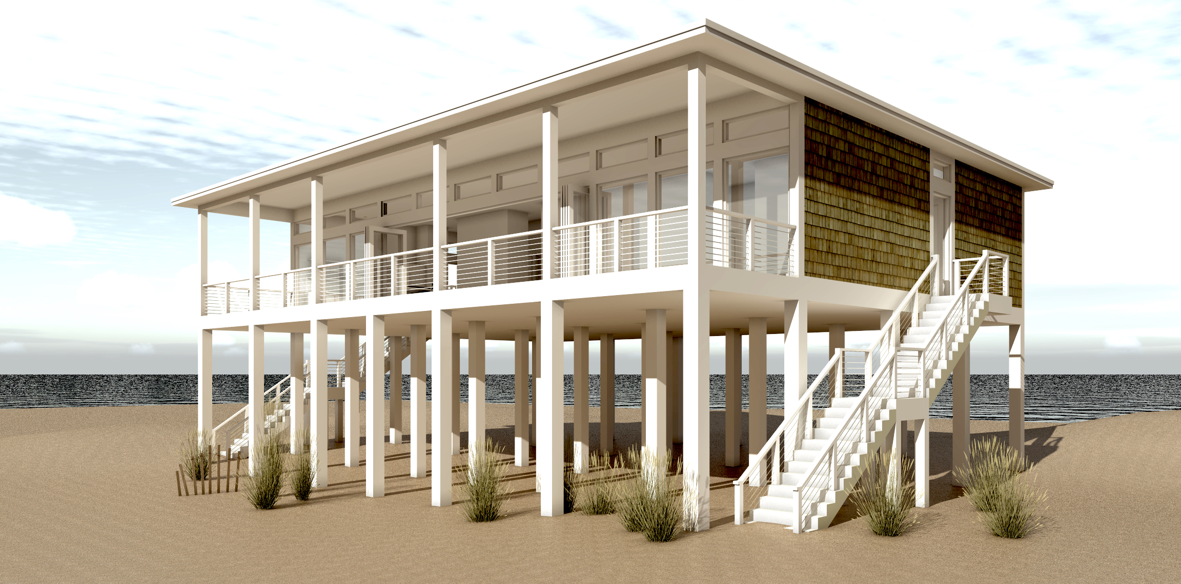 Sandcastle house plan tyree house plans for Beach house plans on stilts