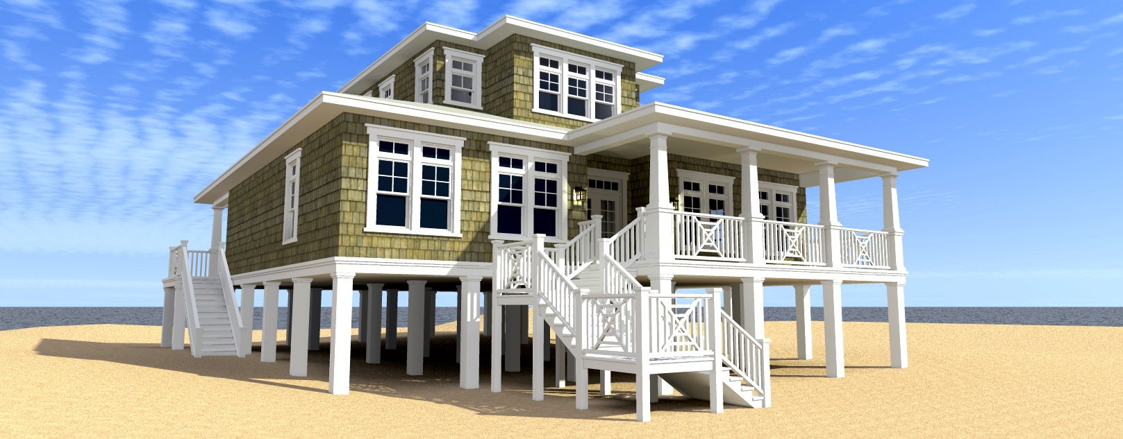 Scuppers house plan tyree house plans for Coastal house floor plans