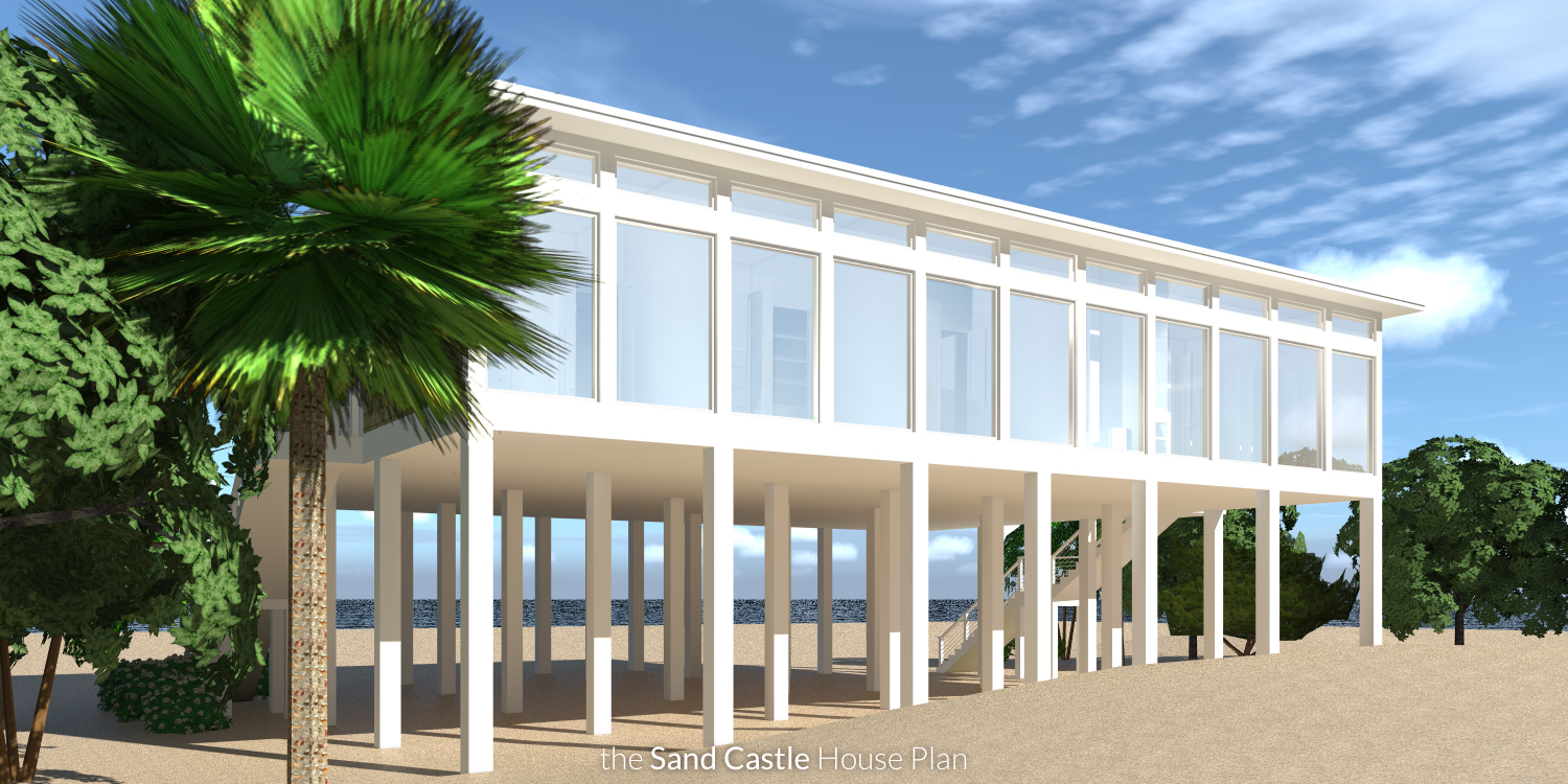 Sand Castle House Plan by Tyree House Plans