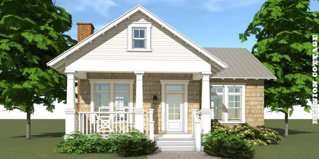 Reunion cottage house plan by tyree house plans for Coastal craftsman house plans