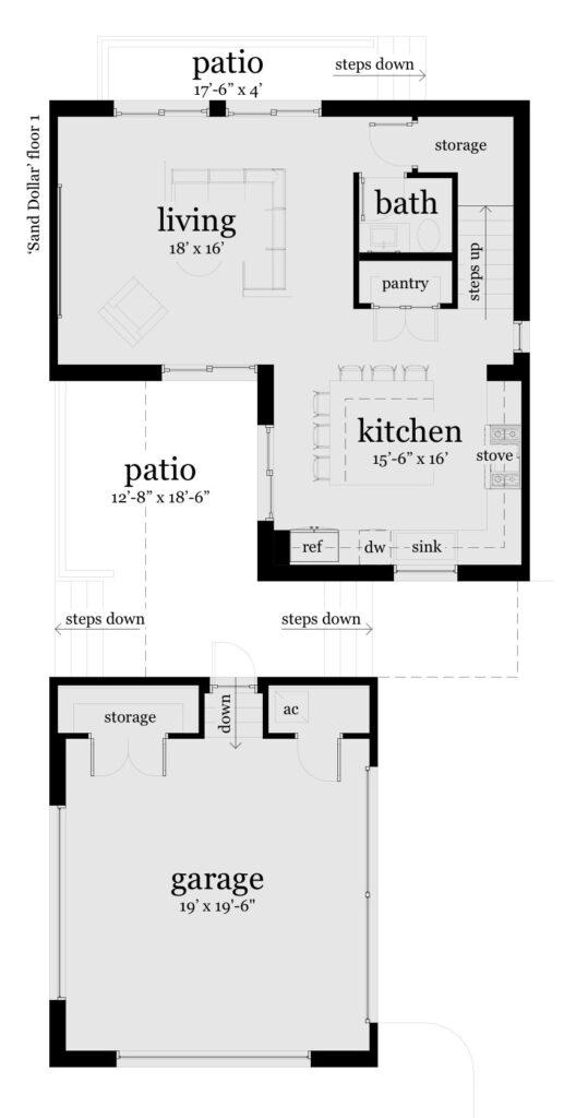 Floor 1 - Sand Dollar House Plan - Tyree House Plans