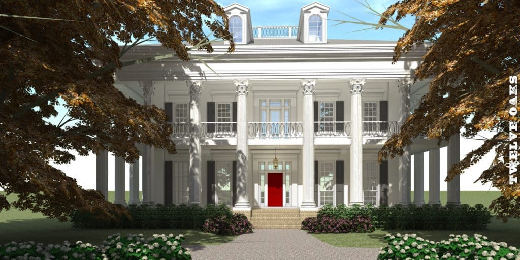 Luxury Southern Plantation 4500 Square Feet Tyree House