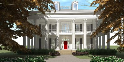 Southern Plantation Home. Twelve Oaks House Plan.