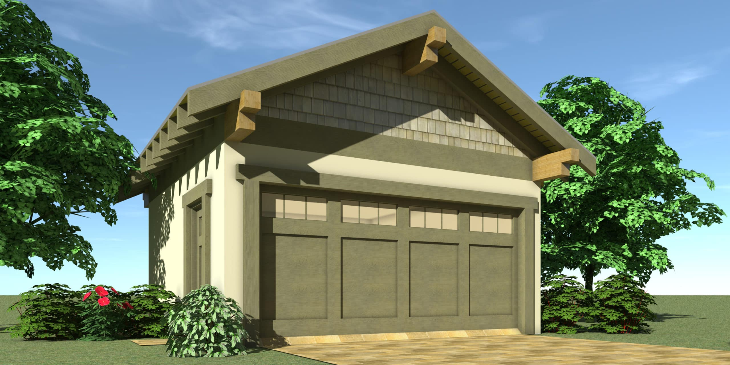 Garage - Wagoner House Plan by Tyree House Plans