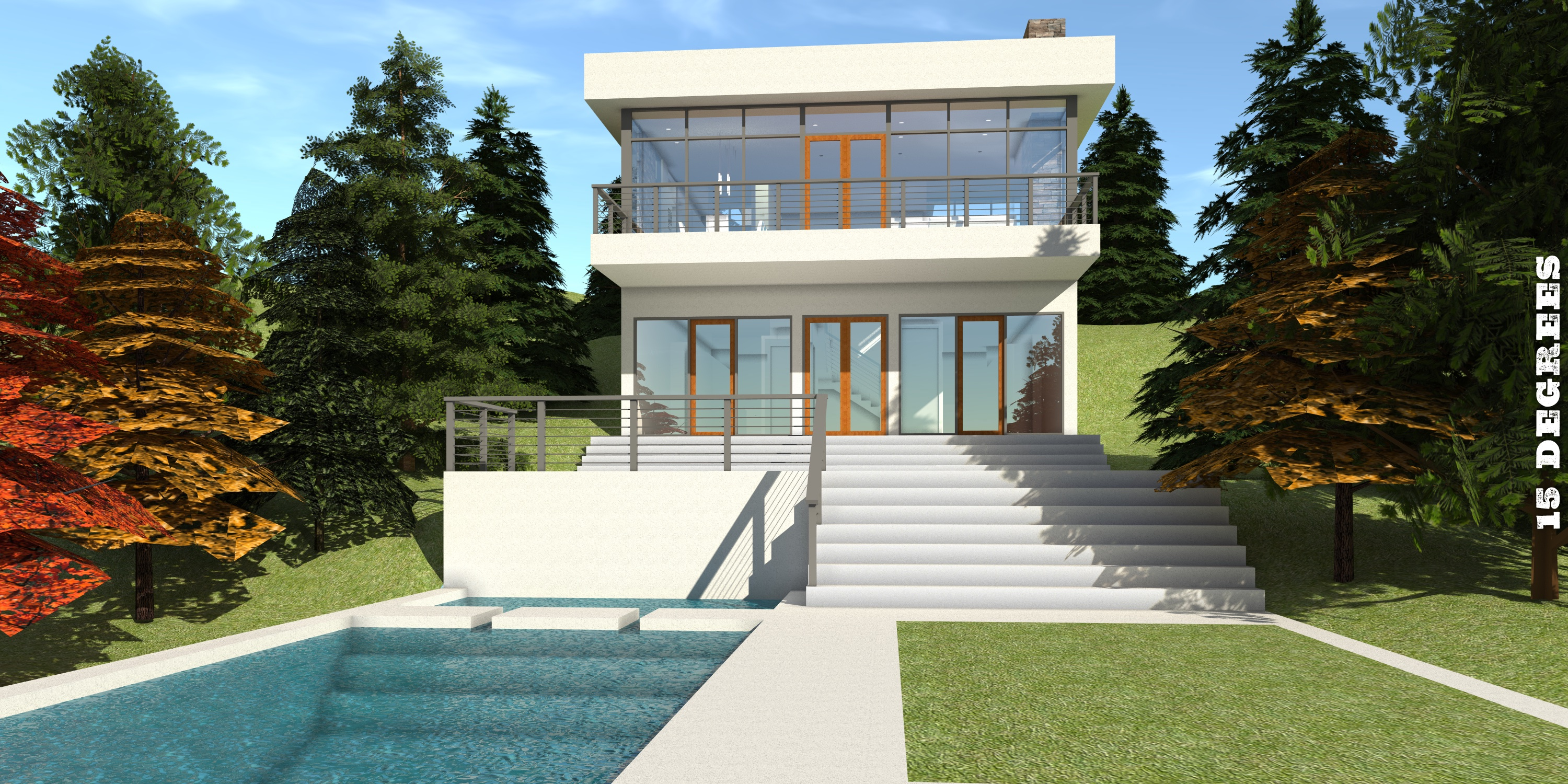 Modern Hillside Home. 2 Bedrooms. Ocoee by Tyree House Plans.