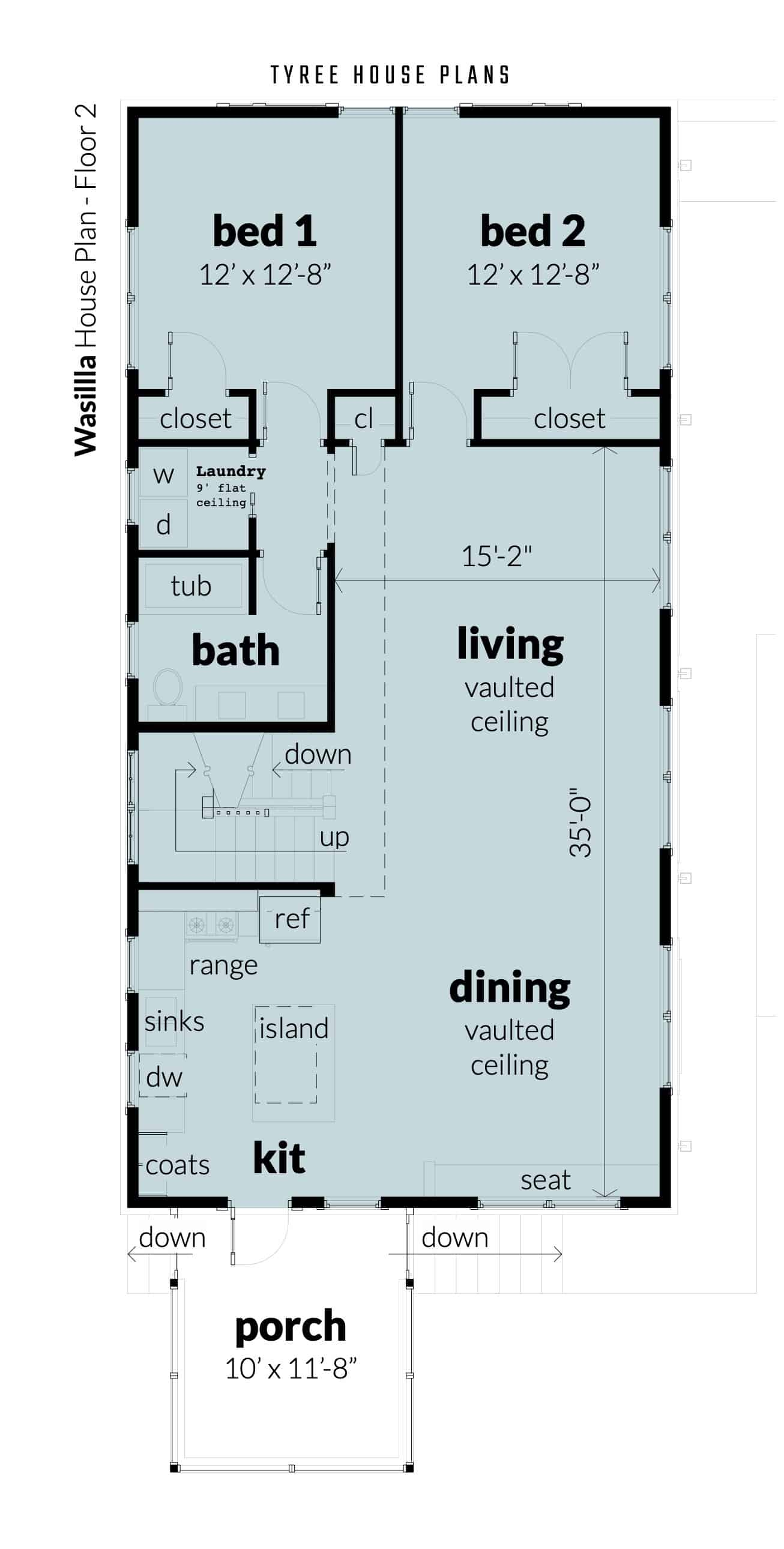 Floor 2 - Wasilla House Plan by Tyree House Plans
