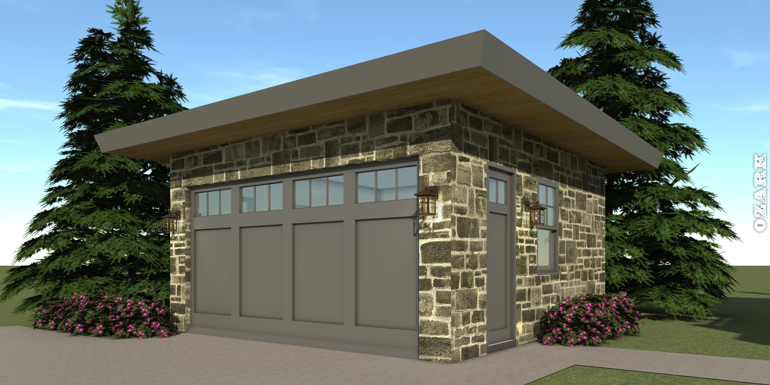 Garage - Ozark House Plan by Tyree House Plans