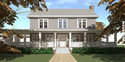 5 Bedroom, 5 Bath Farmhouse. Bluestem House Plan