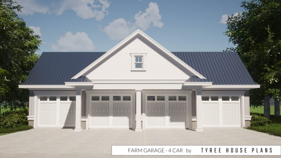 Farm Garage Plan - 4 Car by Tyree House Plans