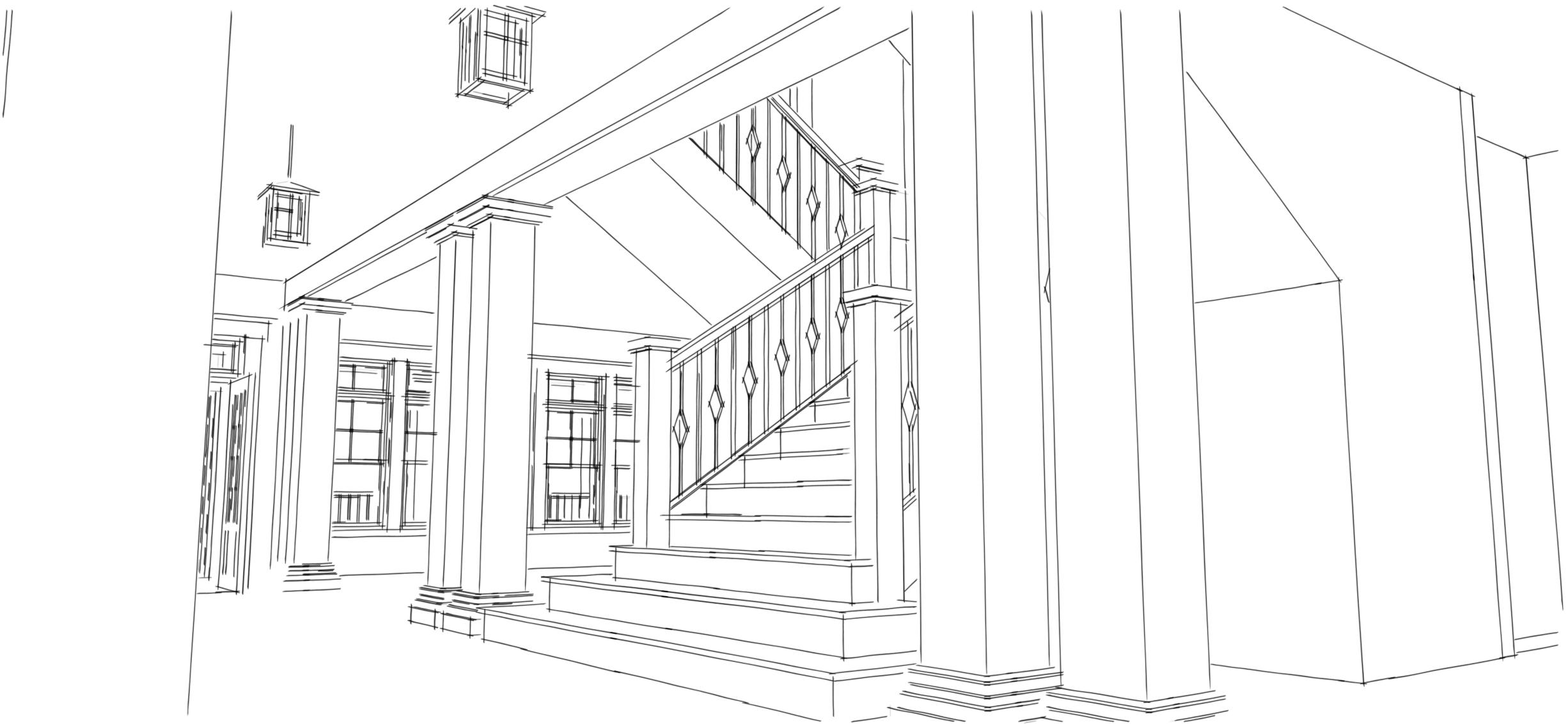 Bluestem House Plans - Stair