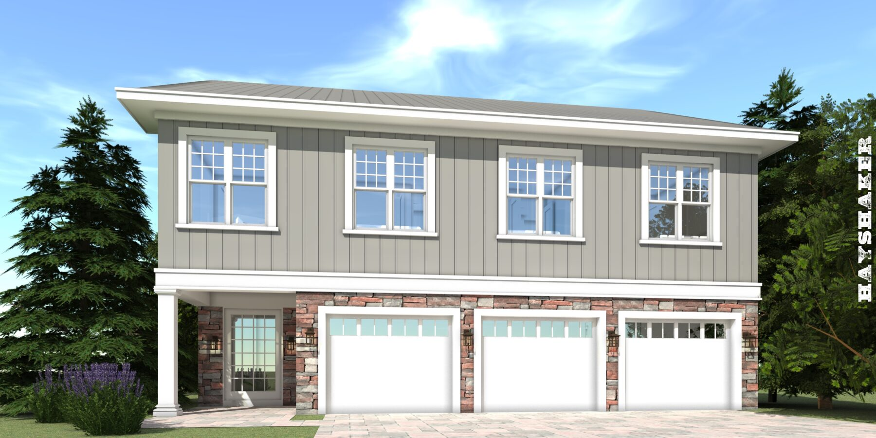 5 Bedroom House For A Small Lot 3 Car Garage Tyree House