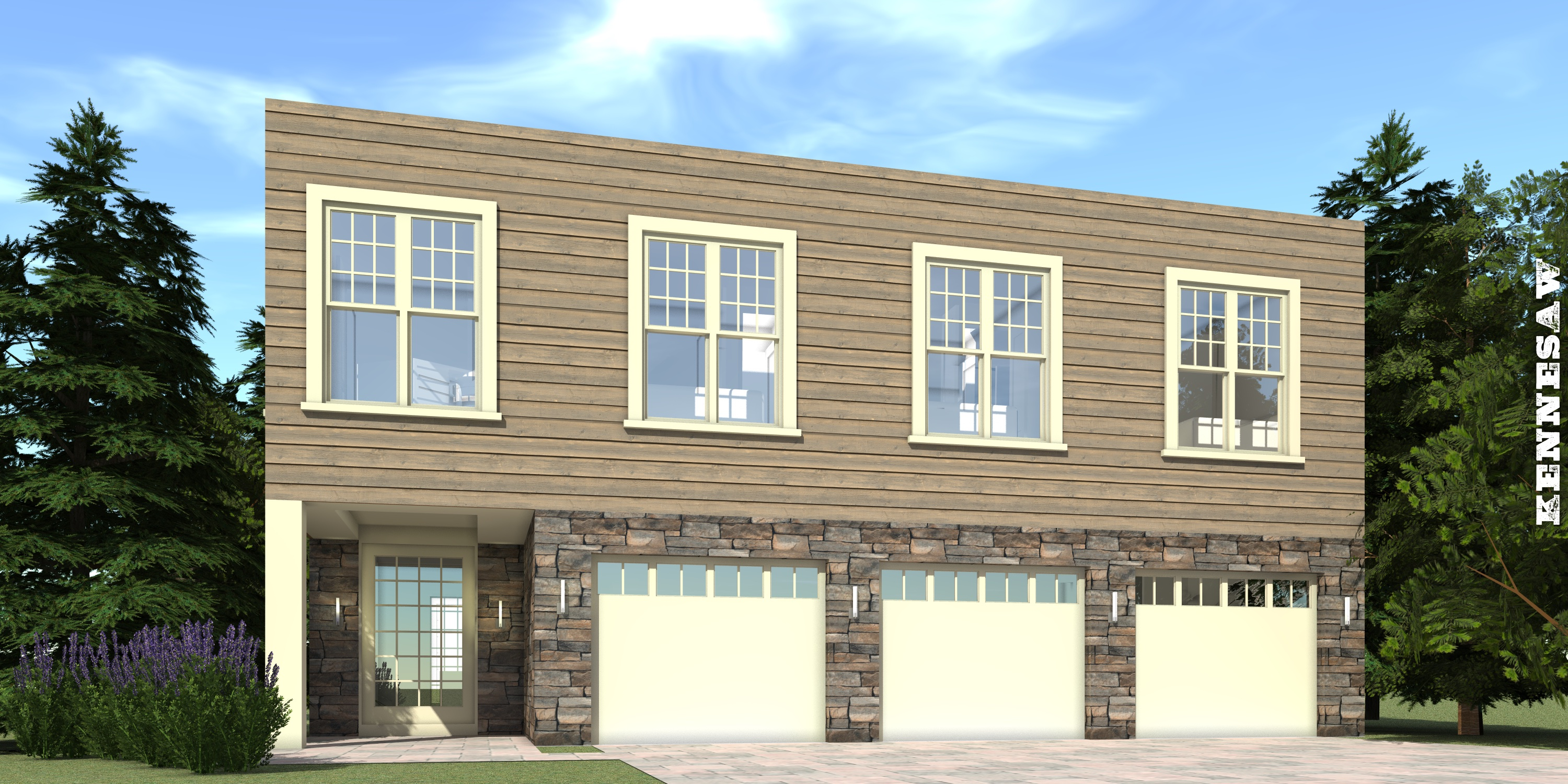 5 Bedroom House for Small Lot. Kennesaw by Tyree House Plans.