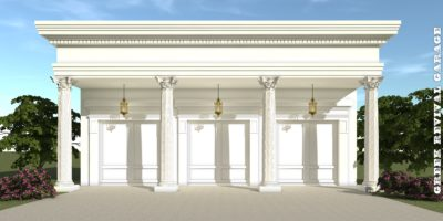 Greek Revival Garage Plan - Tyree House Plans