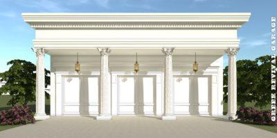Greek Revival Garage Plan - Tyree House Plans