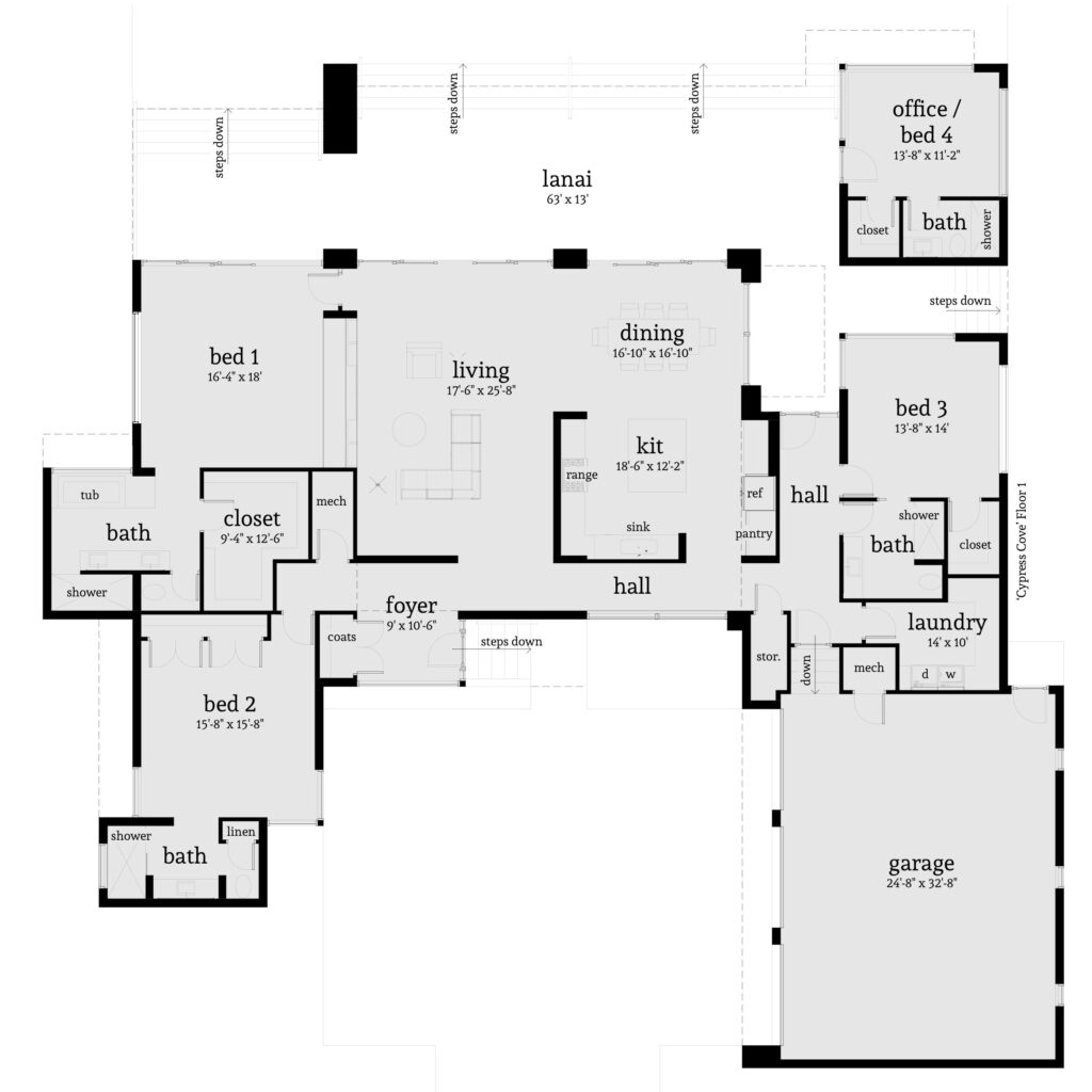 Cypress Cove House Plan - Tyree House Plans