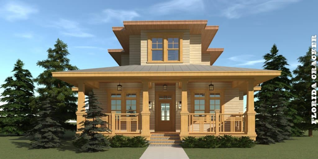 4 Bedroom Craftsman Home with Big Porches. Tyree House Plans.