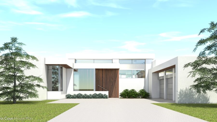 Luxury Modern Patio Home. 4 Bedroom Suites. Cypress Cove by Tyree House Plans.