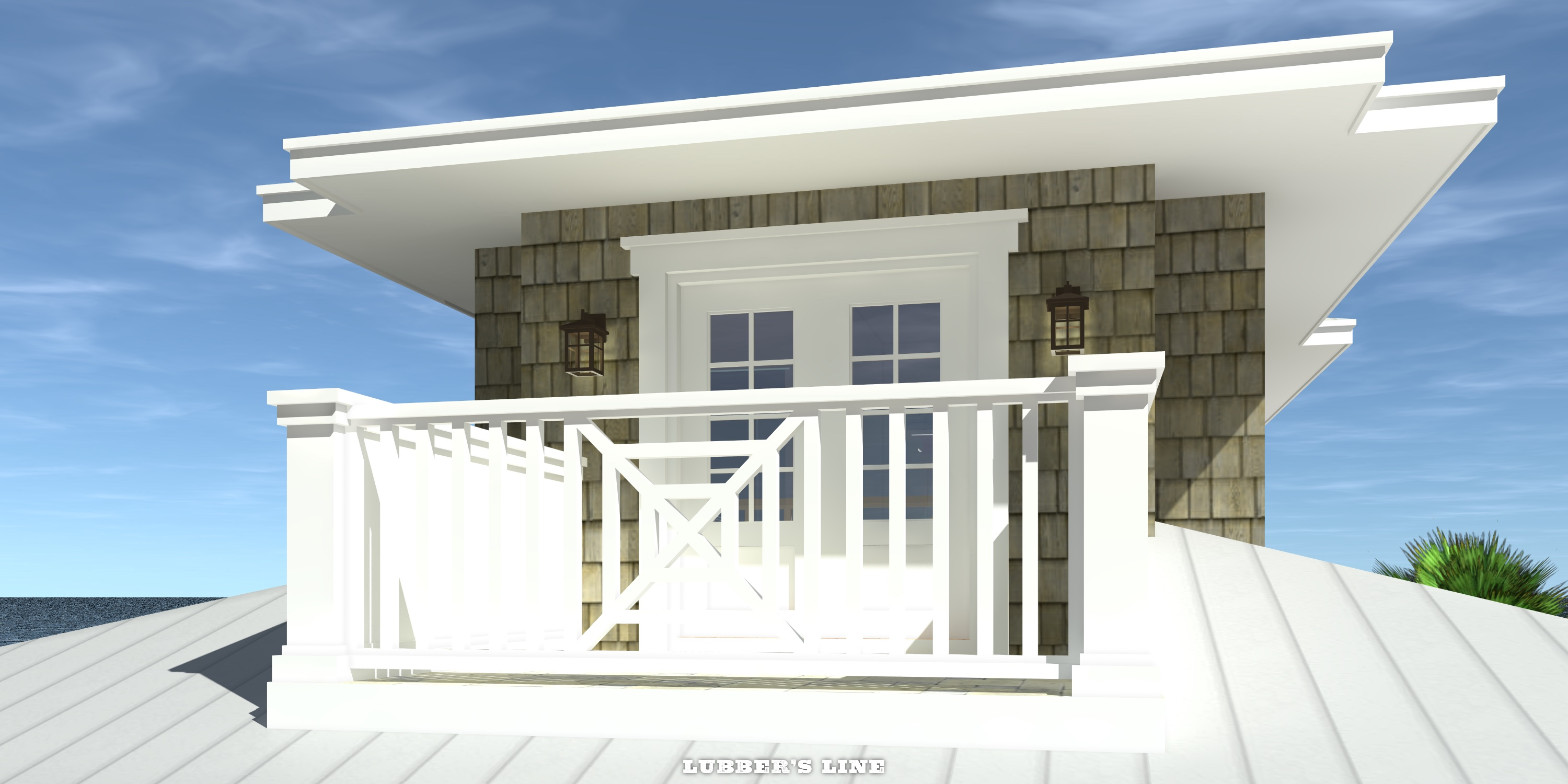 Deck - Lubber's Line House Plan - Tyree House Plans