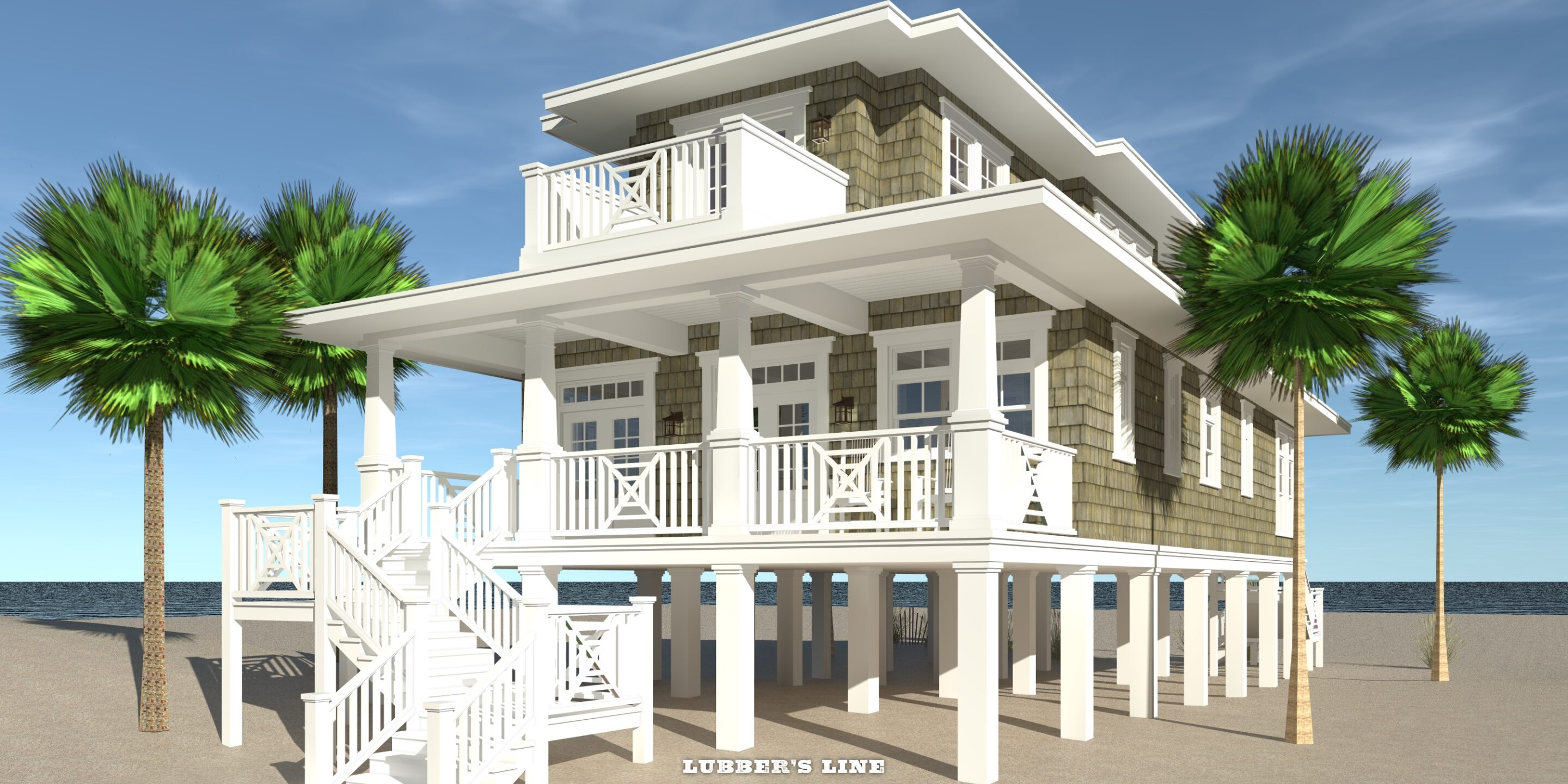 Lubber's Line House Plan by Tyree House Plans