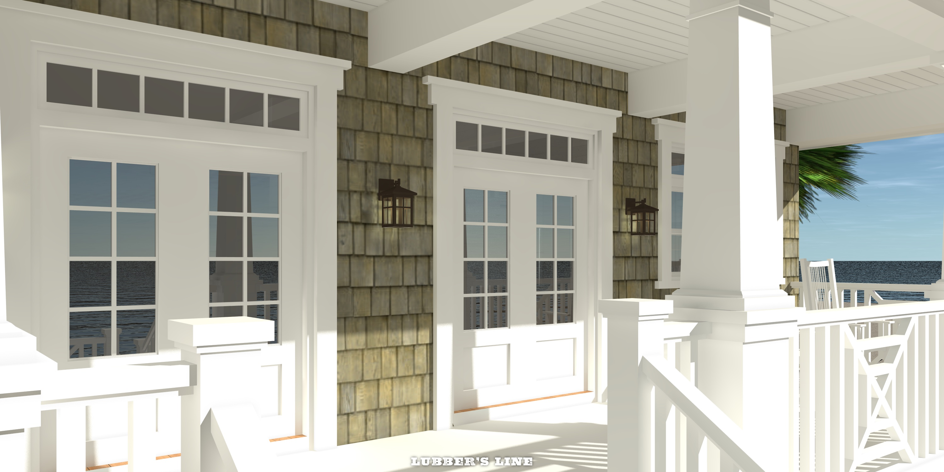 Porch - Lubber's Line House Plan - Tyree House Plans