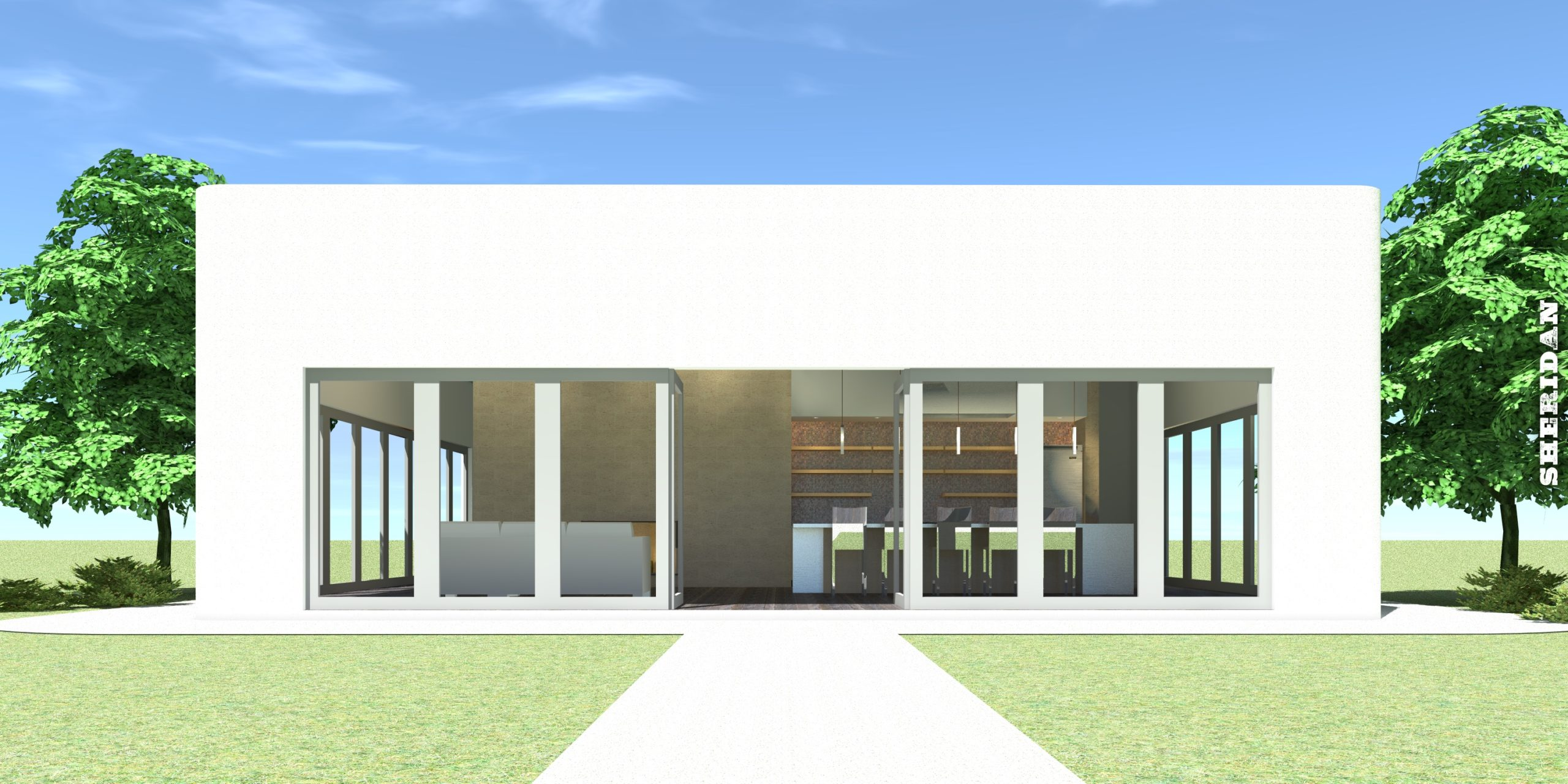 Square Modern Loft Home. 1600 Square Feet. Sheridan by Tyree House Plans.