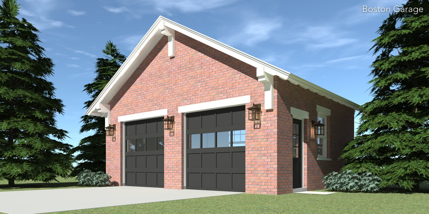 Boston Garage Plan Tyree House Plans – Brick Garage Plans