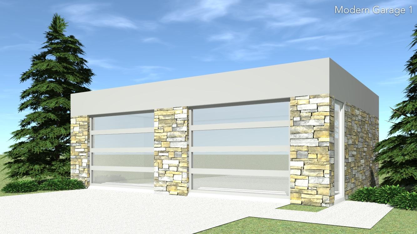 Modern garage 2 plan tyree house plans for Modern house design with garage