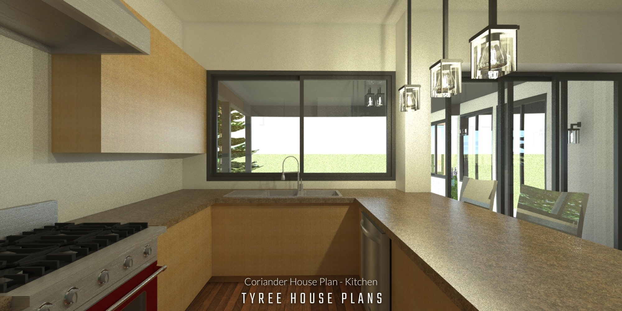 Kitchen - Coriander House Plan by Tyree House Plans