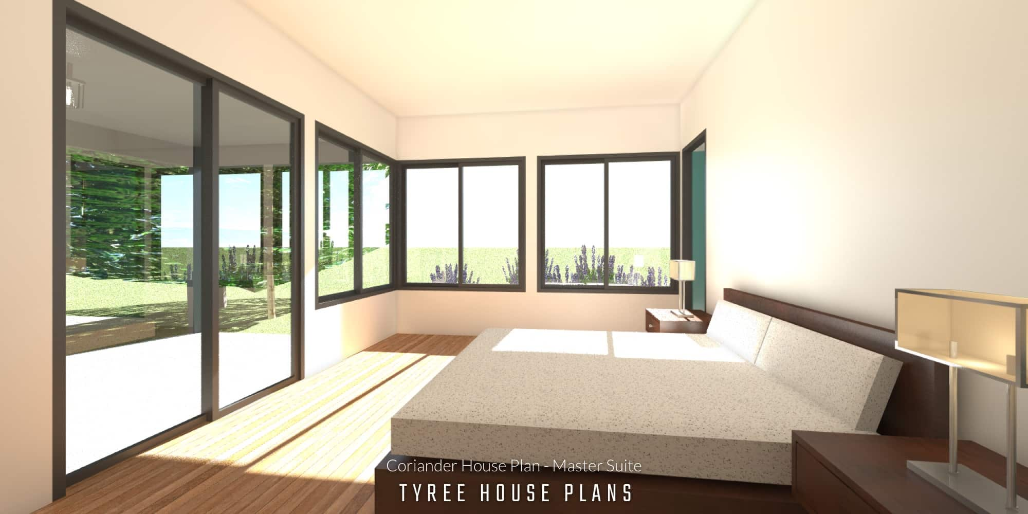 Master Suite - Coriander House Plan by Tyree House Plans