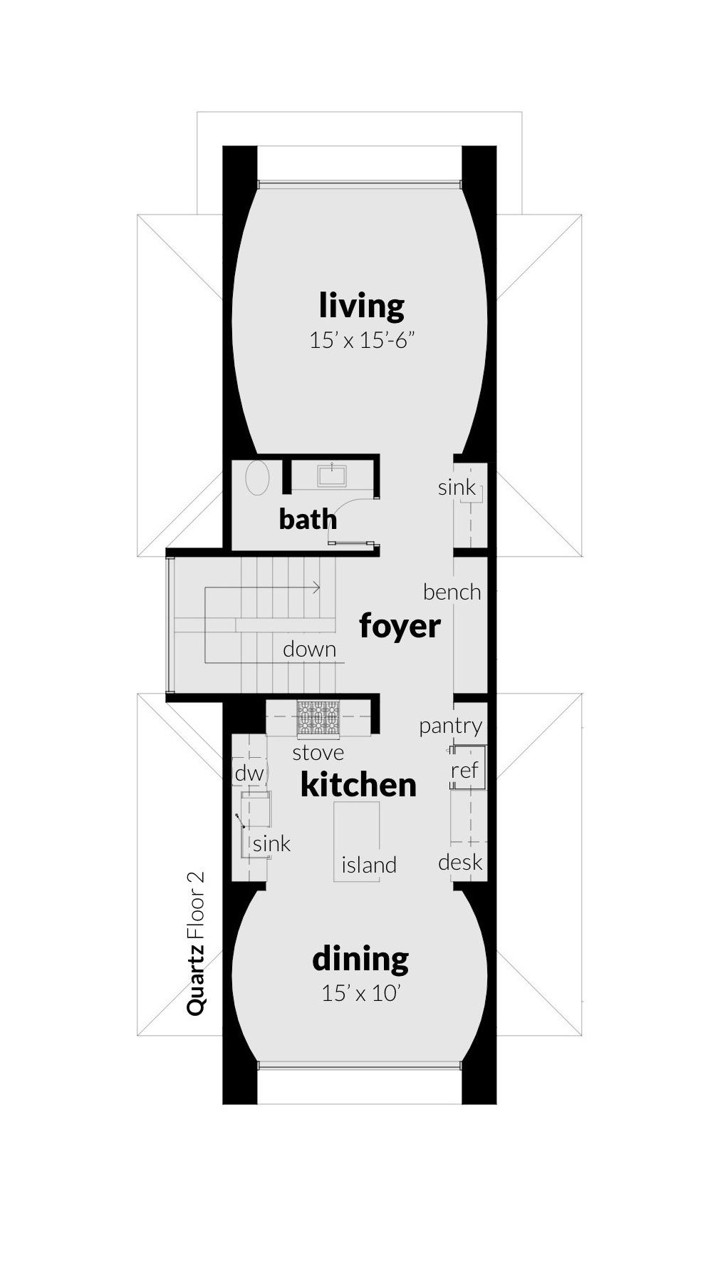 Floor 2, Quartz House Plan by Tyree House Plans